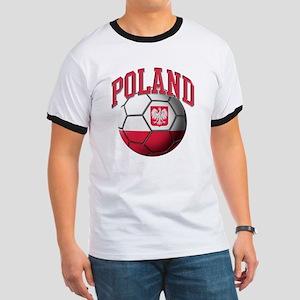 Flag of Poland Soccer Ball Ringer T