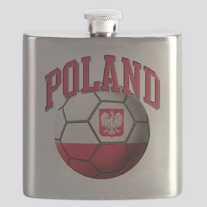 Flag of Poland Soccer Ball Flask