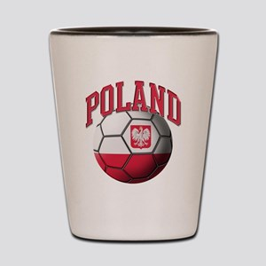 Flag of Poland Soccer Ball Shot Glass