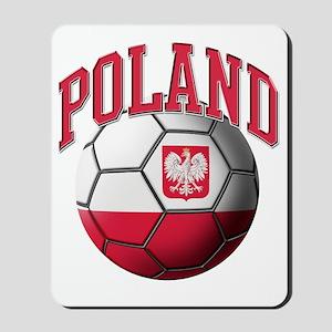 Flag of Poland Soccer Ball Mousepad