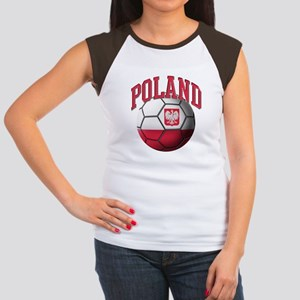 Flag of Poland Soccer B Women's Cap Sleeve T-Shirt