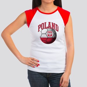 Flag of Poland Soccer B Women's Cap Sleeve T-Shirt