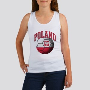 Flag of Poland Soccer Ball Women's Tank Top