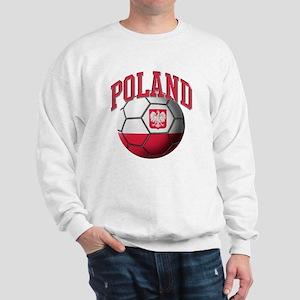 Flag of Poland Soccer Ball Sweatshirt
