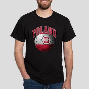 Flag of Poland Soccer Ball Dark T-Shirt