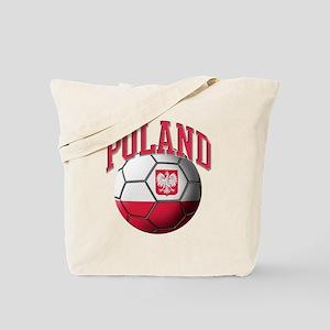 Flag of Poland Soccer Ball Tote Bag
