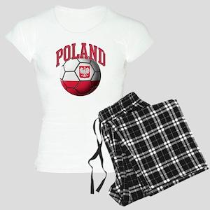 Flag of Poland Soccer Ball Women's Light Pajamas