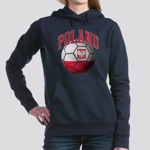 Flag of Poland Soccer Ball Hooded Sweatshirt