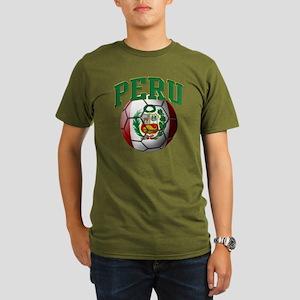 Flag of Peru Soccer B Organic Men's T-Shirt (dark)