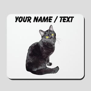 Custom Black Cat Mousepad