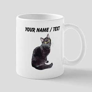Custom Black Cat Mugs