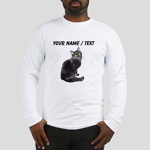 Custom Black Cat Long Sleeve T-Shirt