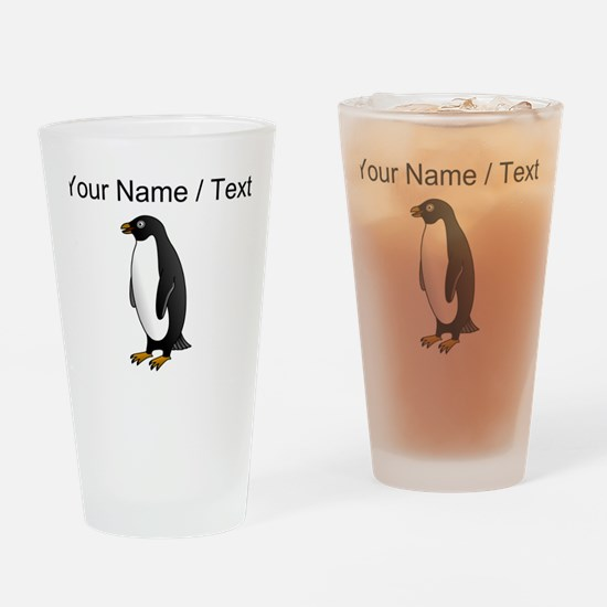 Custom Penguin Drinking Glass