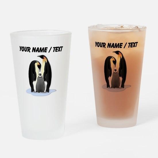 Custom Penguin Family Drinking Glass