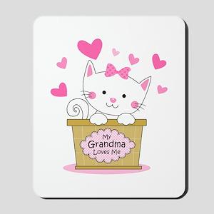 Kitty Grandma Loves Me Mousepad
