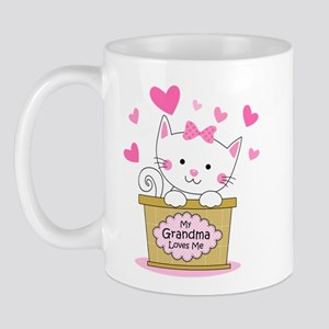 Kitty Grandma Loves Me Mug