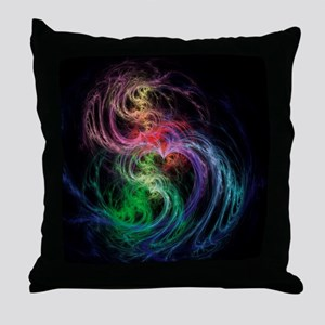 Space Hearts Throw Pillow
