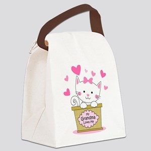 Kitty Grandma Loves Me Canvas Lunch Bag