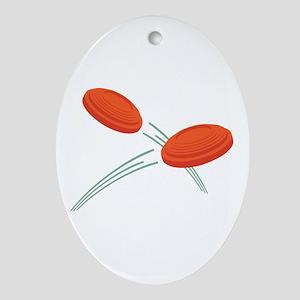 Skeet Clays Ornament (Oval)