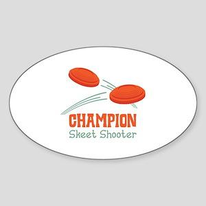 Champion Skeet Shooter Sticker