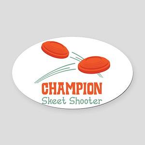 Champion Skeet Shooter Oval Car Magnet