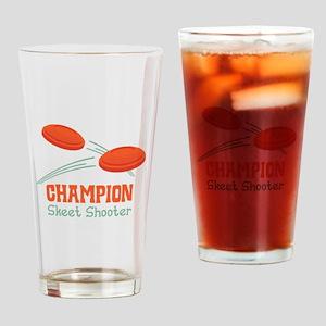 Champion Skeet Shooter Drinking Glass