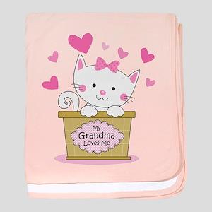 Kitty Grandma Loves Me baby blanket