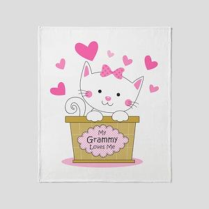 Kitty Grammy Loves Me Throw Blanket