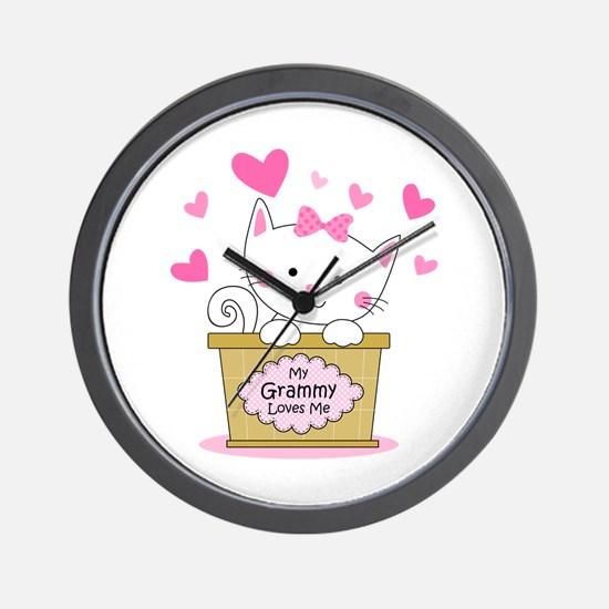 Kitty Grammy Loves Me Wall Clock