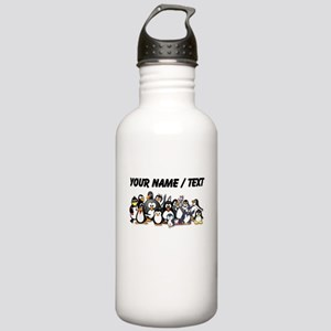 Custom Penguins Sports Water Bottle