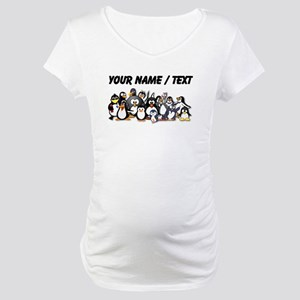 Custom Penguins Maternity T-Shirt