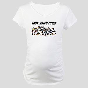 Custom Penguins Maternity T-Shirt