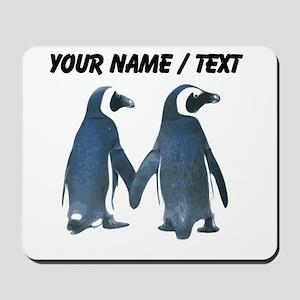 Custom Penguins Holding Hands Mousepad