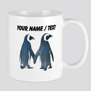 Custom Penguins Holding Hands Mugs