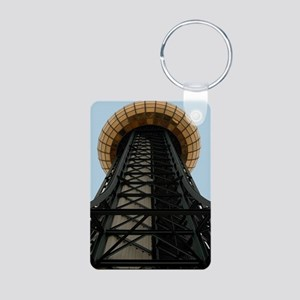 Knox., TN Sunsphere Aluminum Photo Keychain