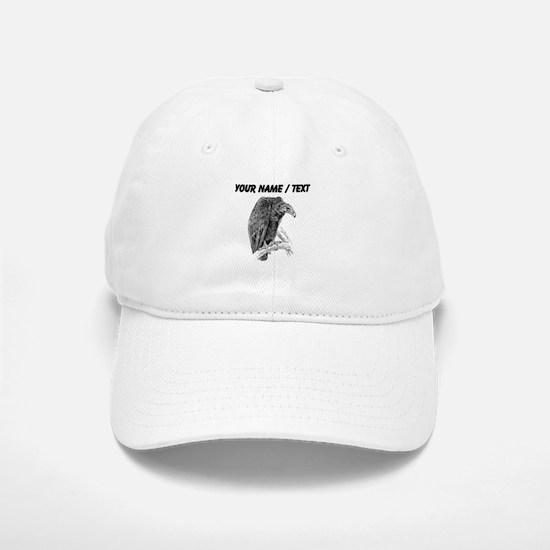 Custom Vulture Sketch Baseball Baseball Cap