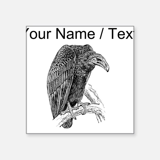 Custom Vulture Sketch Sticker
