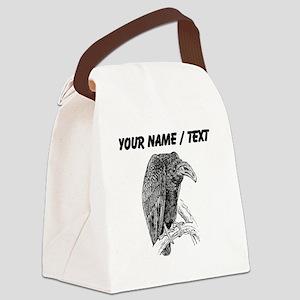 Custom Vulture Sketch Canvas Lunch Bag