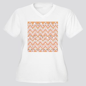 Abstract Bright A Women's Plus Size V-Neck T-Shirt