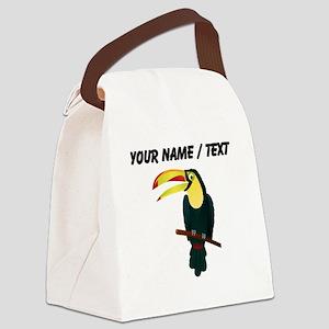 Custom Toucan Canvas Lunch Bag