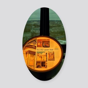 Knoxville Sunsphere Oval Car Magnet