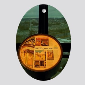 Knoxville Sunsphere Oval Ornament