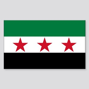 Syrian National Coalition Flag Sticker (Rectangle)