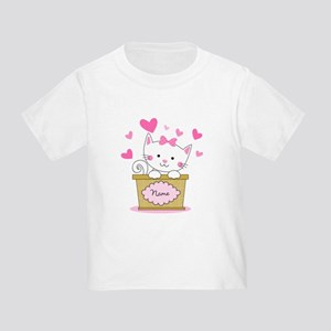 Personalized Kitty Love Toddler T-Shirt