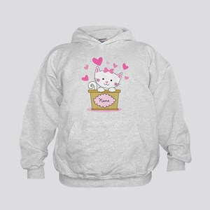 Personalized Kitty Love Kids Hoodie