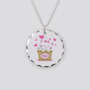 Personalized Kitty Love Necklace Circle Charm