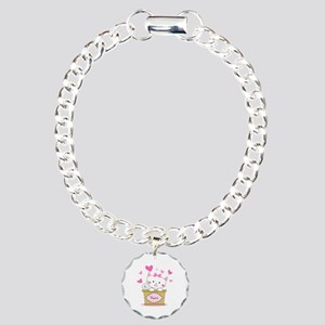 Personalized Kitty Love Charm Bracelet, One Charm