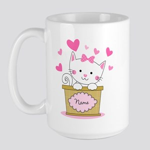 Personalized Kitty Love Large Mug