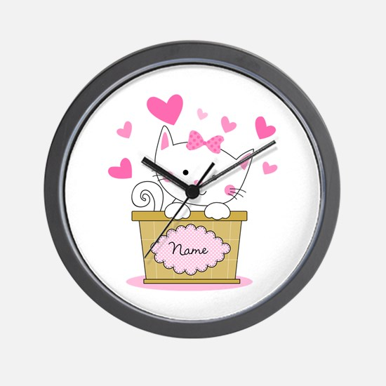 Personalized Kitty Love Wall Clock