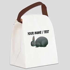 Custom Grey Bunny Canvas Lunch Bag